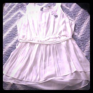 Forever 21 Plus size Sleeveless white blouse
